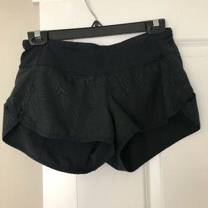 Black Lululemon running shorts